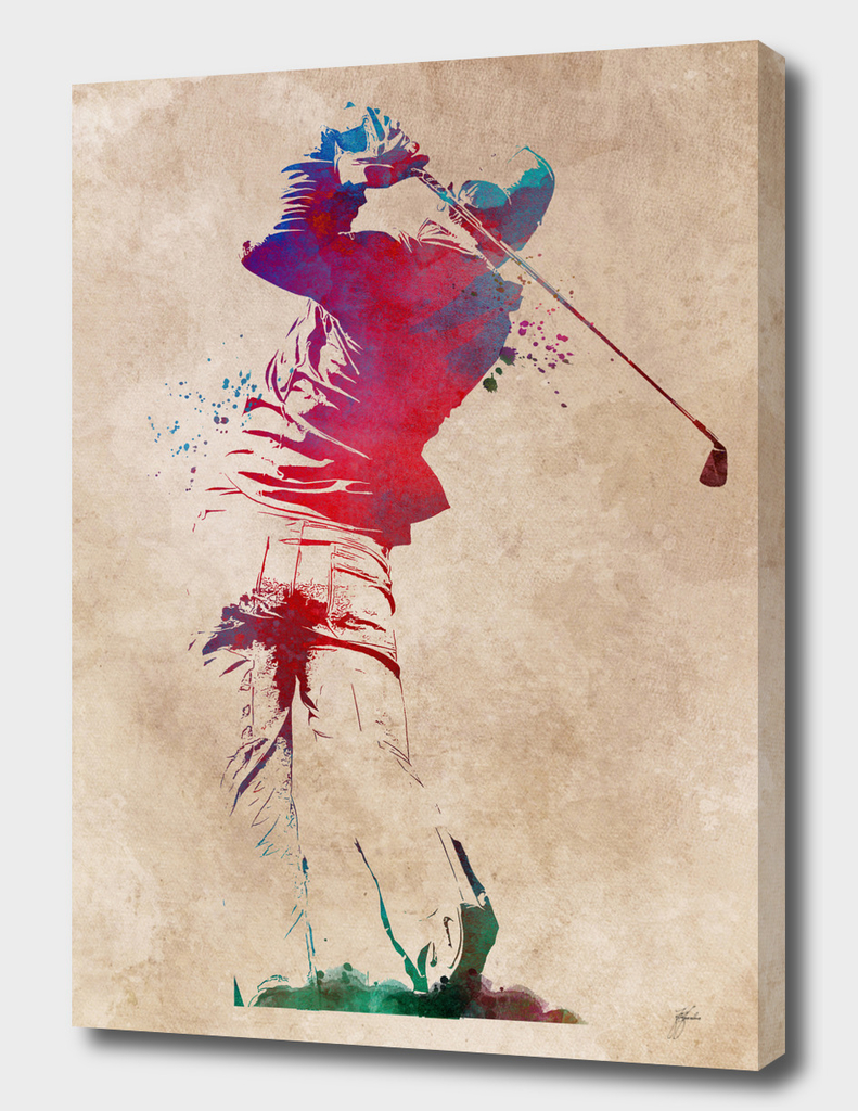 Golf player sport art #golf #sport