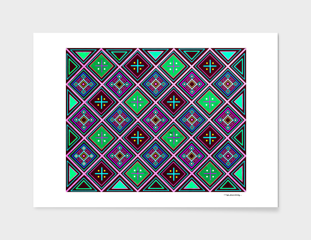 Indigenous ethnic pattern design illustration