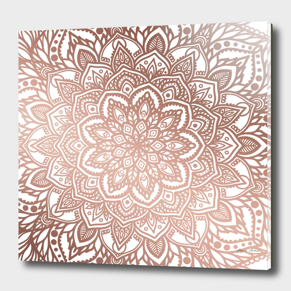 Rosegold Multi Mandala