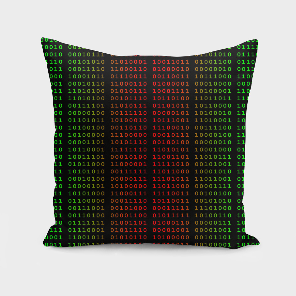 Binary Green and Red With Spaces