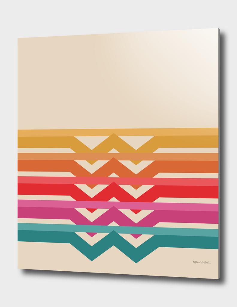 Retro Pattern - Suns Rising #942