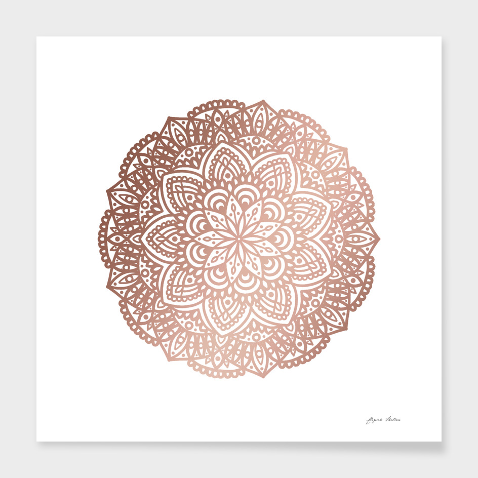 Rose Gold Circular Mandala