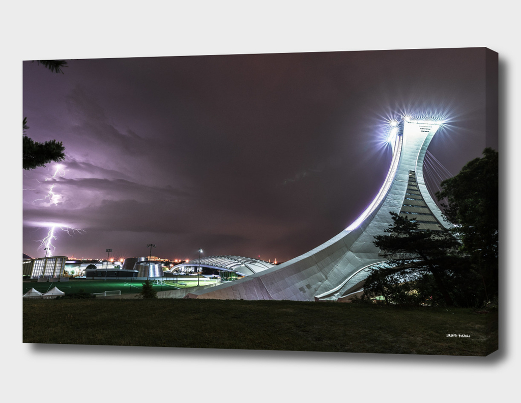 Lightning and Montreal Olympic Stadium