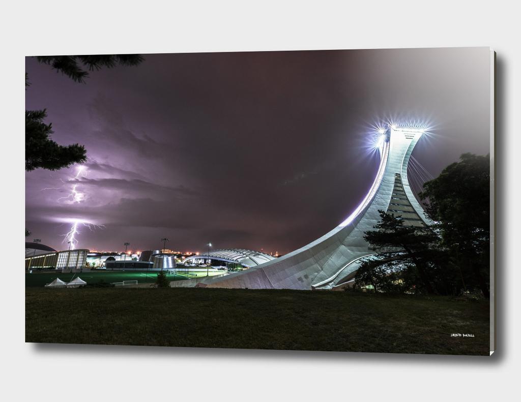Lightning and Montreal Olympic Stadium