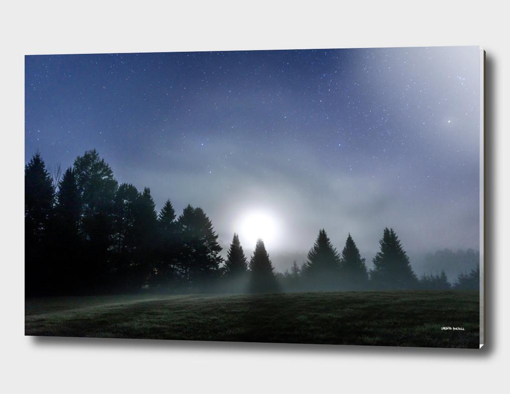 Moon rising at Arundel