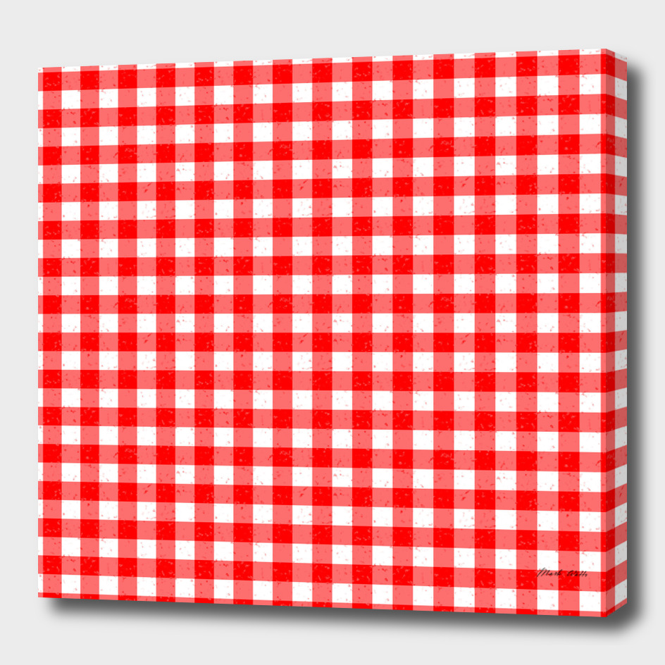 Gingham Red and White Pattern