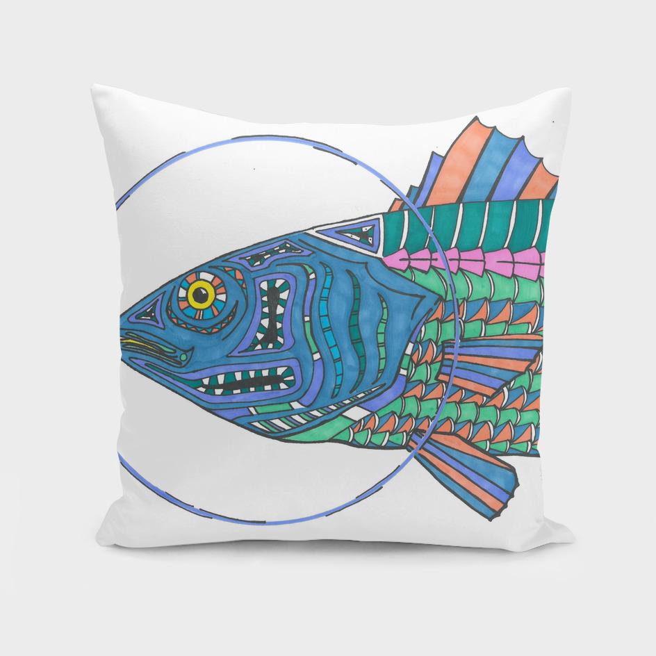 'Bass' head- fish