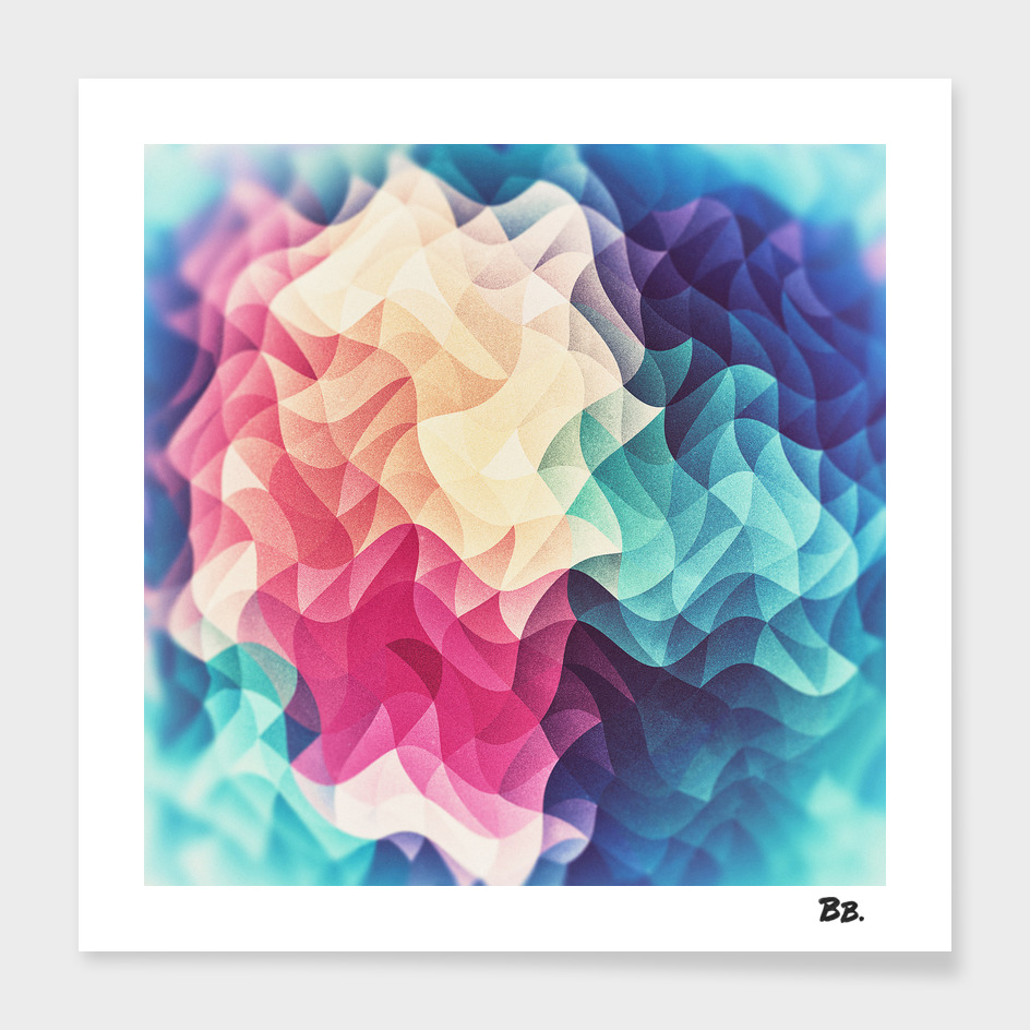 Geometry Triangle Multicolor Mosaic Pattern HDR Low Poly Art