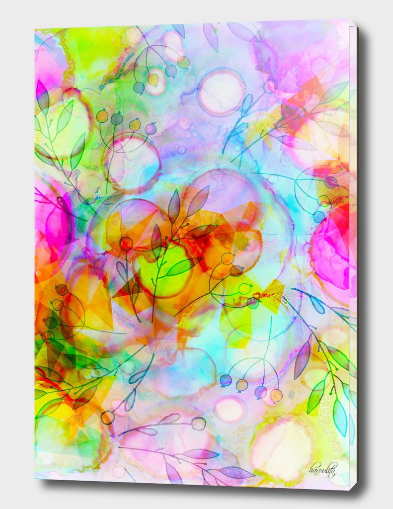 alcohol ink floral