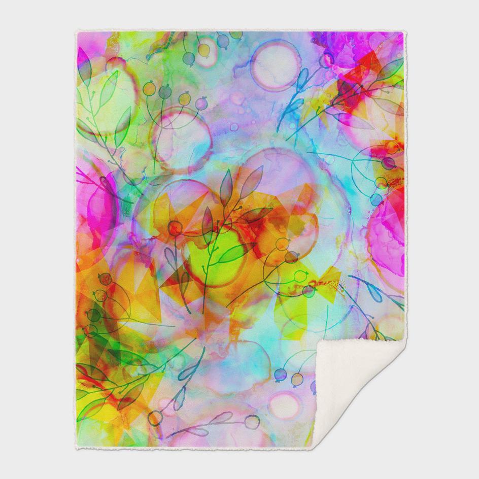 alcohol ink floral
