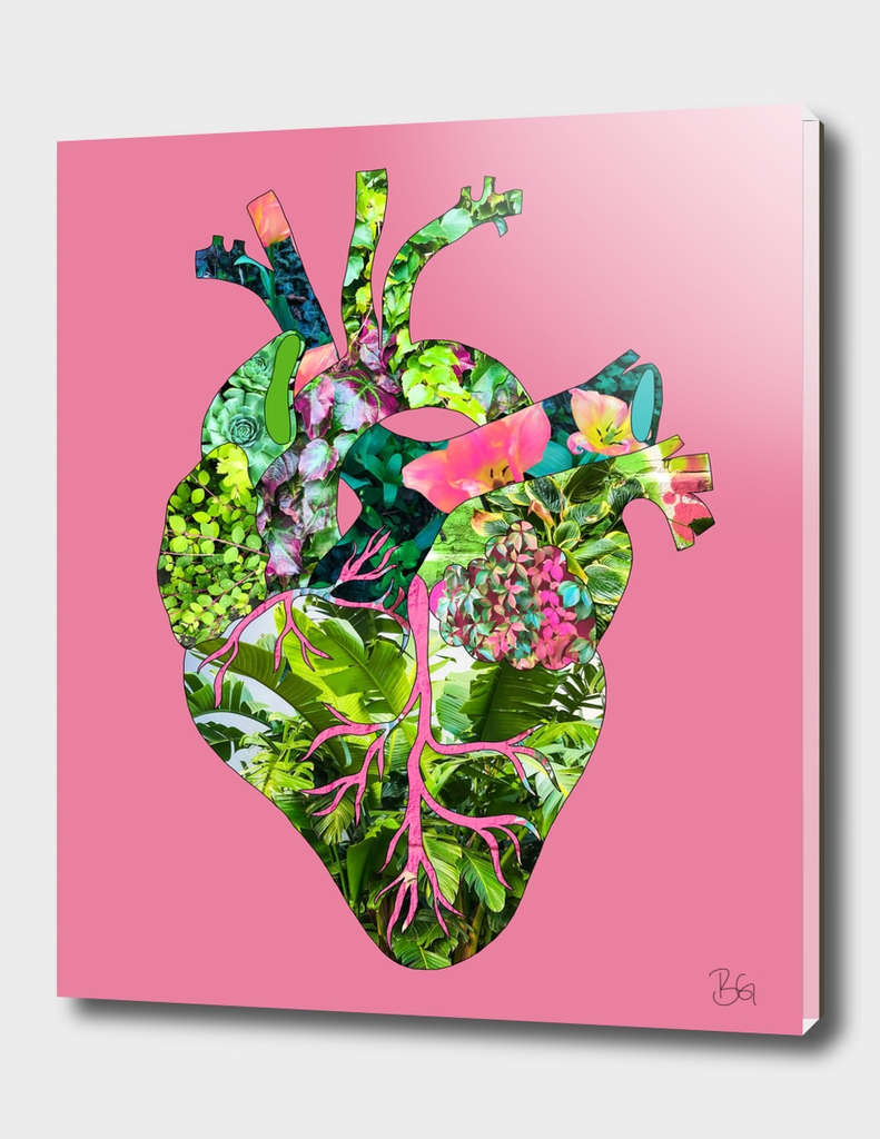 Botanical Heart Pink