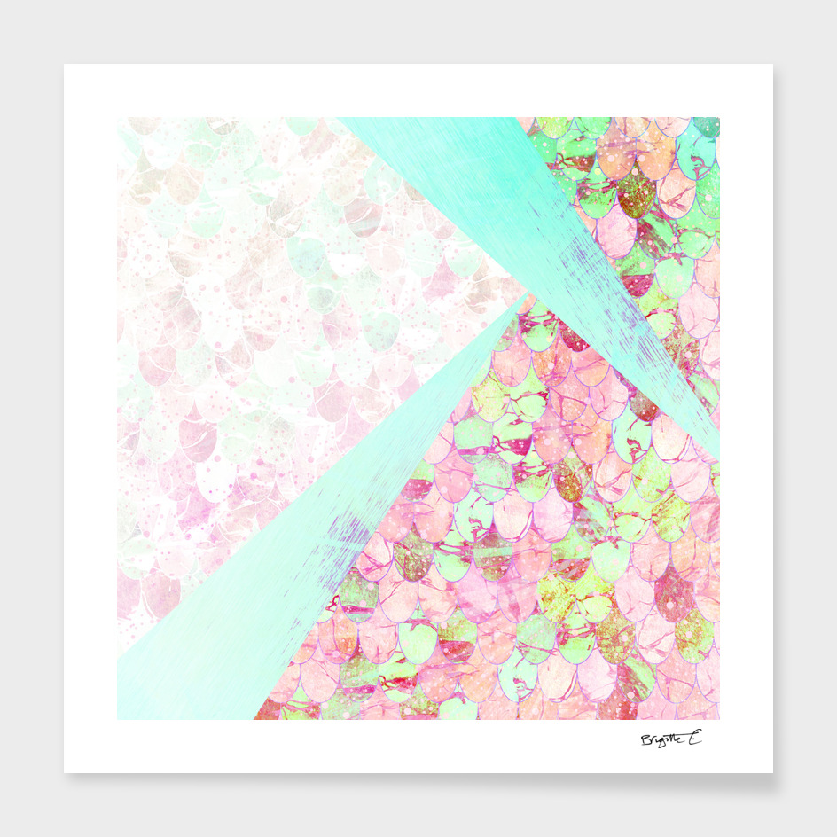 Abstract Summer Mermaid Scales Design