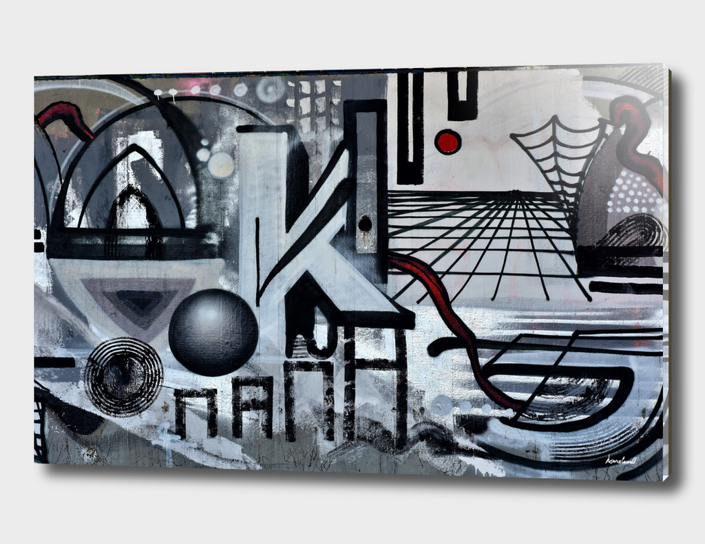Graffiti On Gray Background