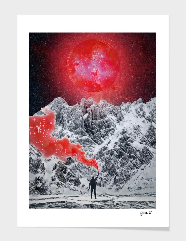Red Glitter smoke by GEN Z