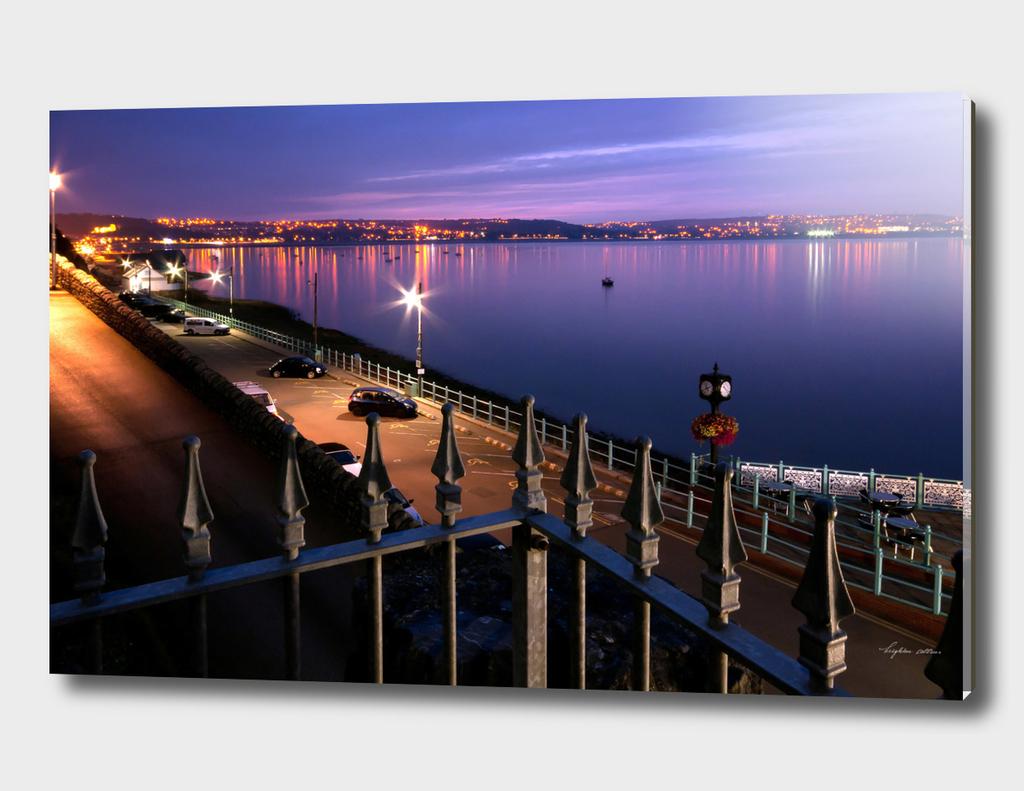 Swansea Bay at night