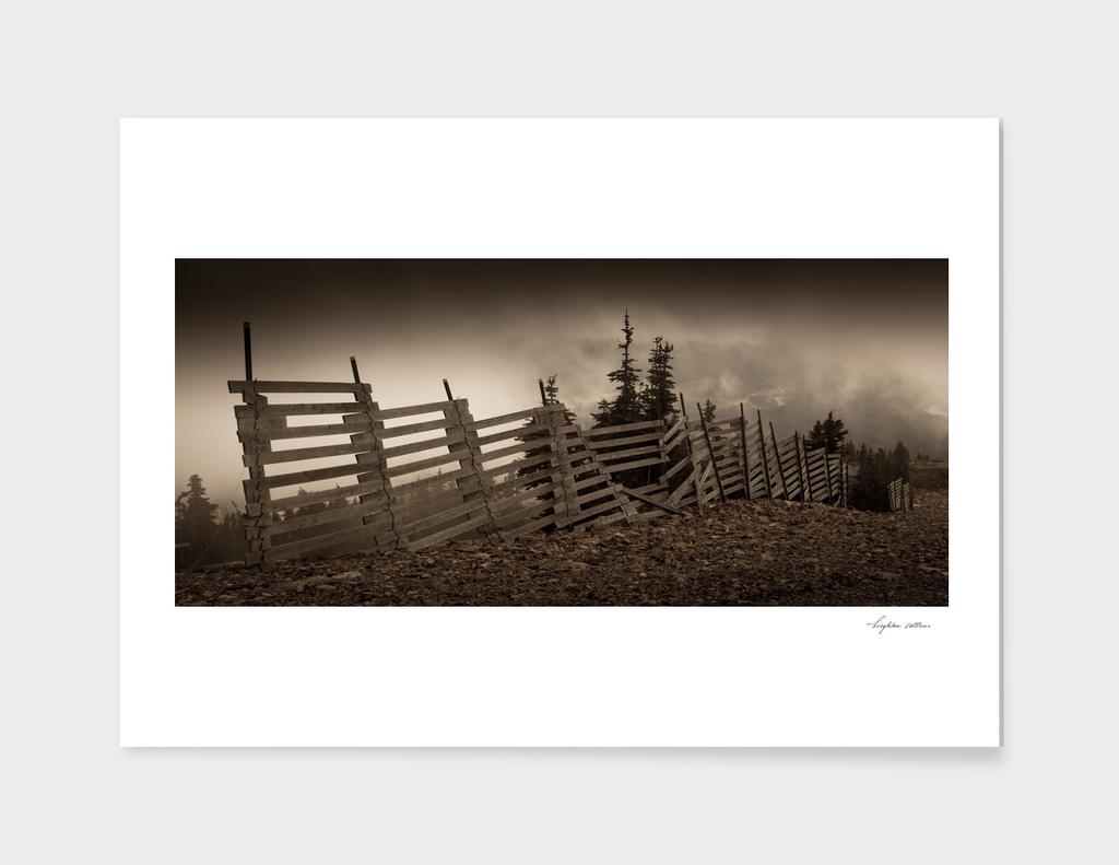 Old fence on Mount Washington