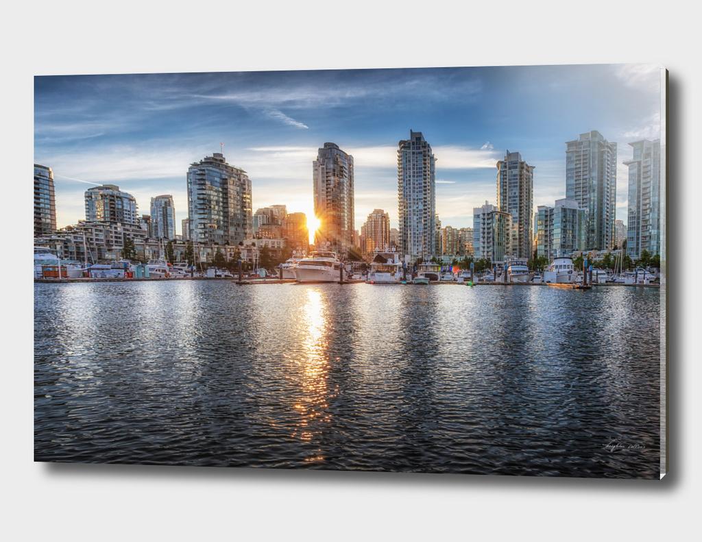 Vancouver skyline sunset