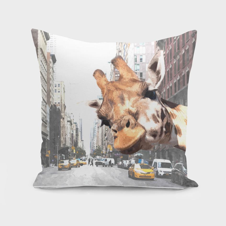 Selfie Giraffe in New York