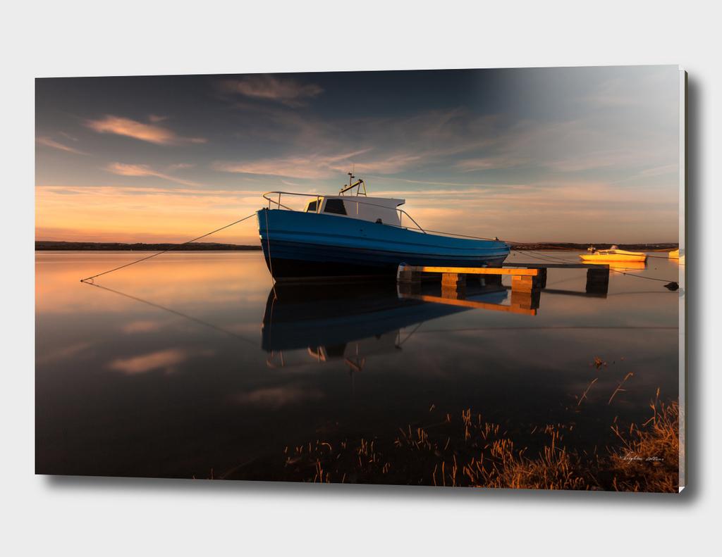 Loughor estuary boats Wales