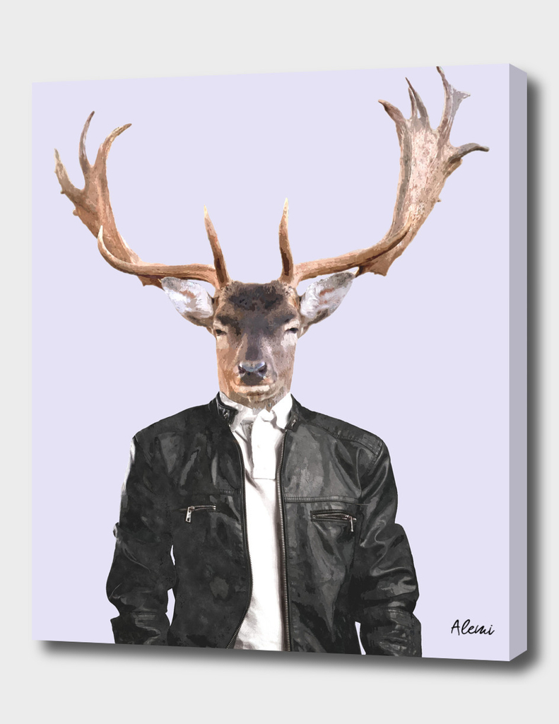 Fashionable Deer Illustration