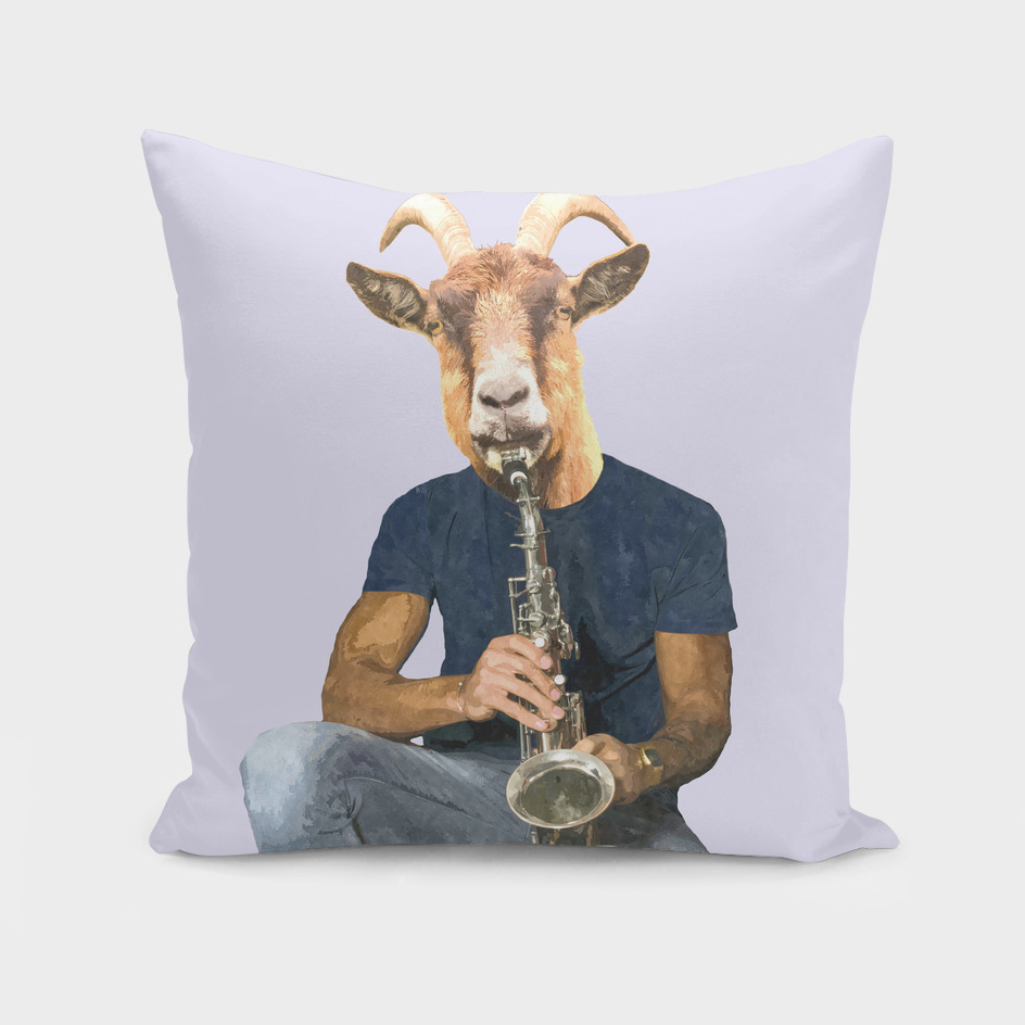 Goat Musician Illustration