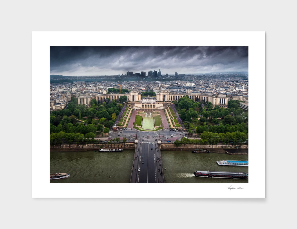 Storm approaching over Paris