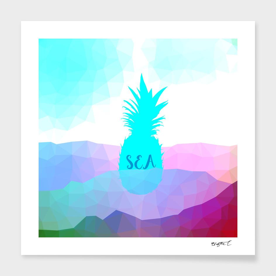 Sunny Sea Pineapple Geometric Summer Vibes