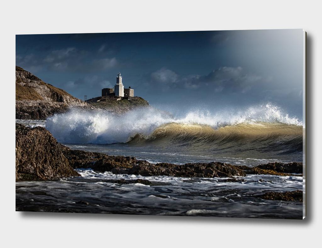 Waves at Bracelet Bay