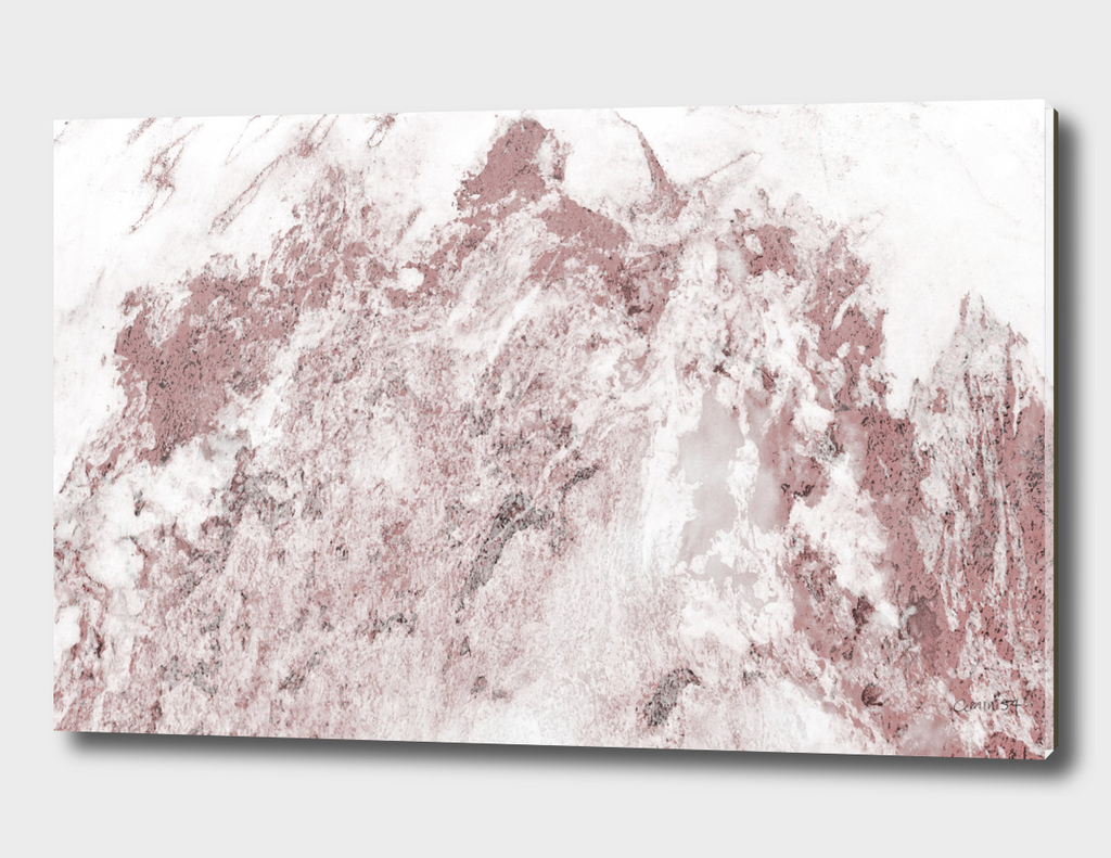 White and Pink Marble 17