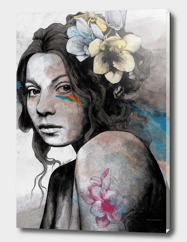 Qohelet (young lady with freesia tattoo)