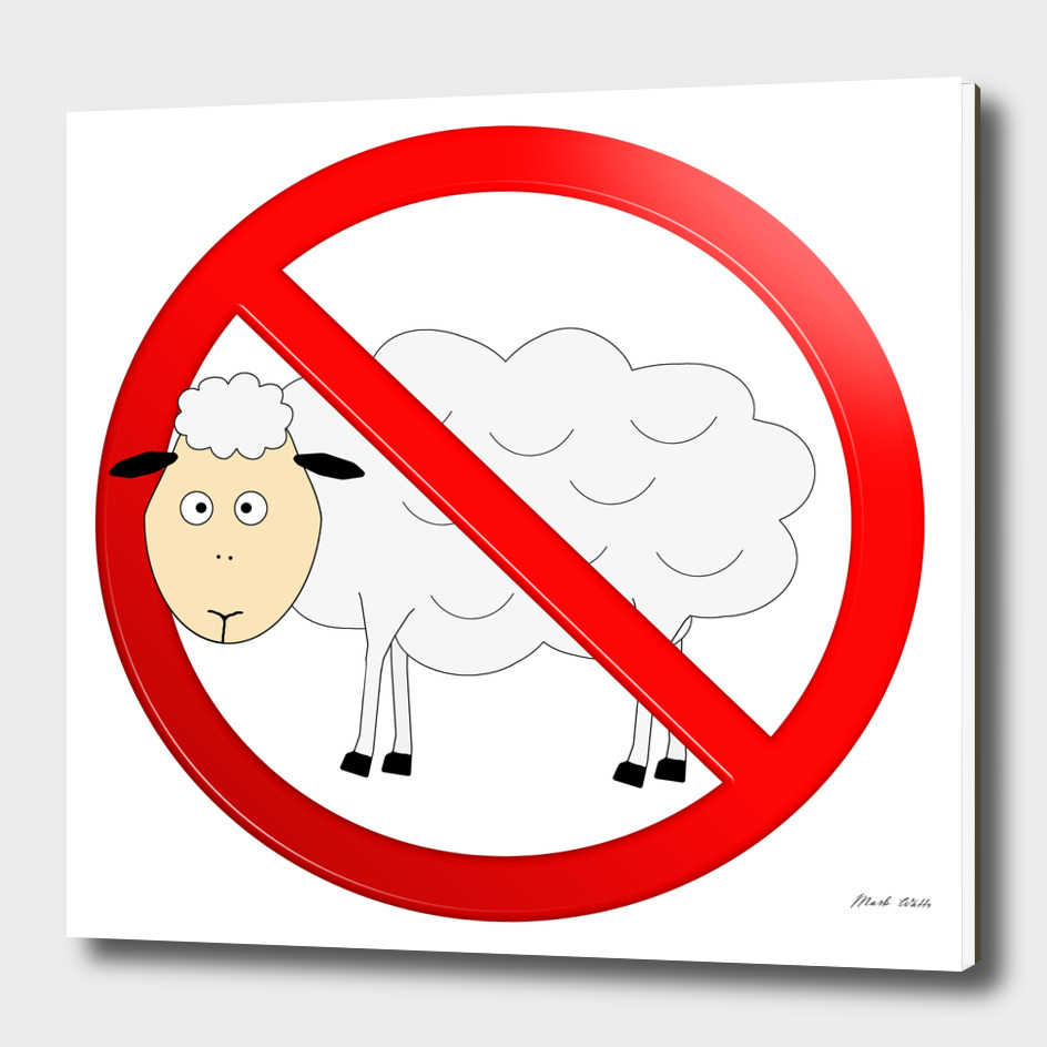 Sheep Not Allowed Sign