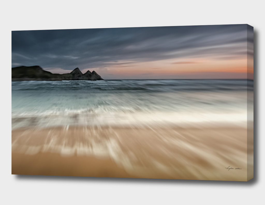 Sunset at Three Cliffs Bay Gower