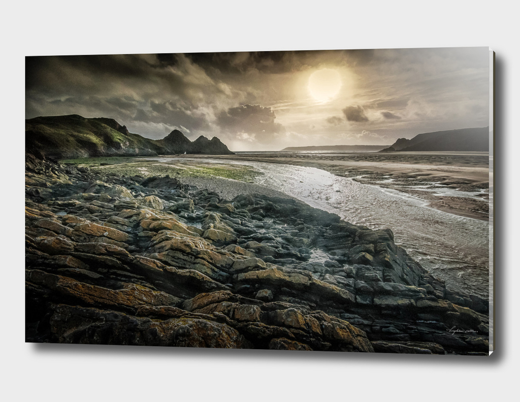 Moody Three Cliffs Bay Gower