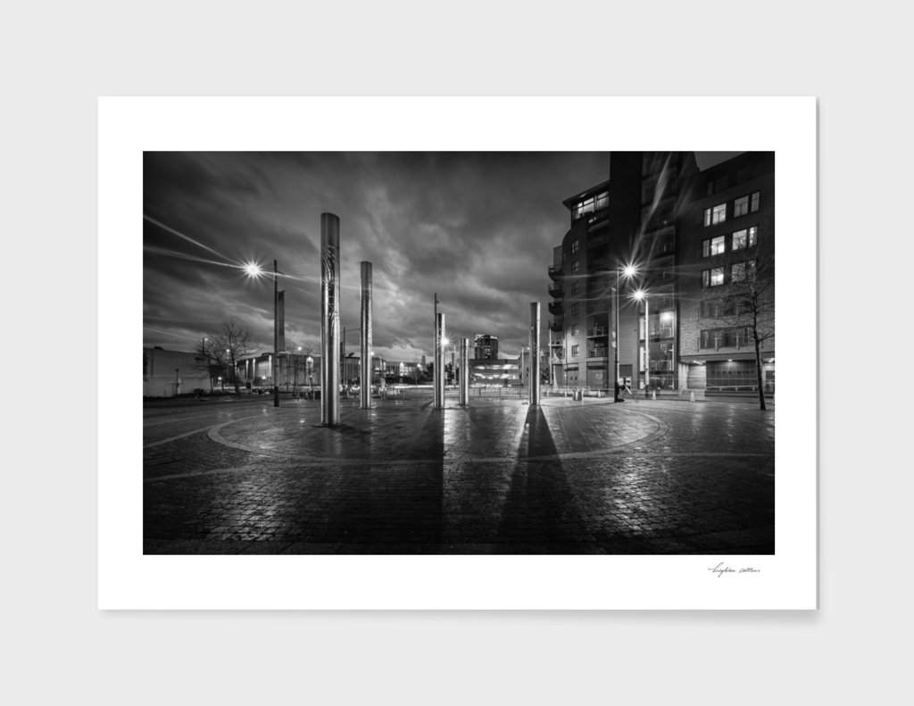 Swansea city centre at night