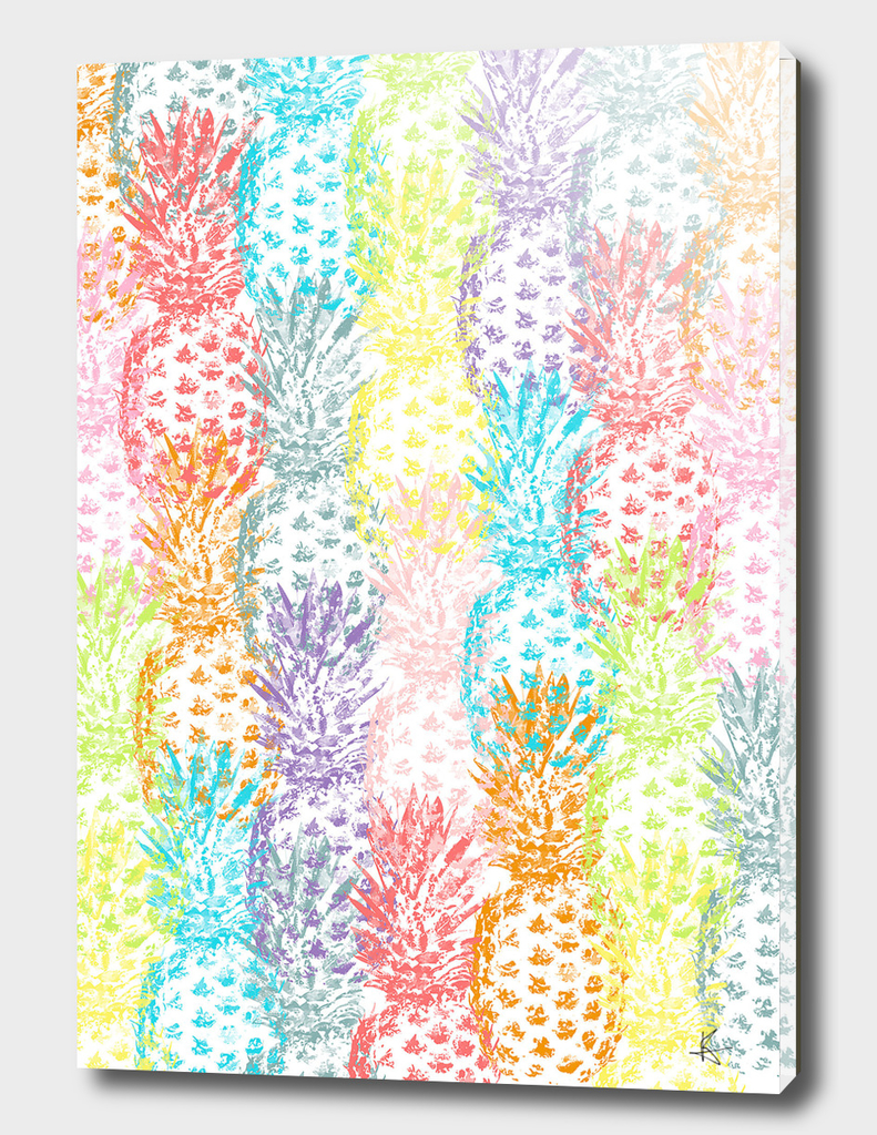 Pineapples Multicolor Watercolor
