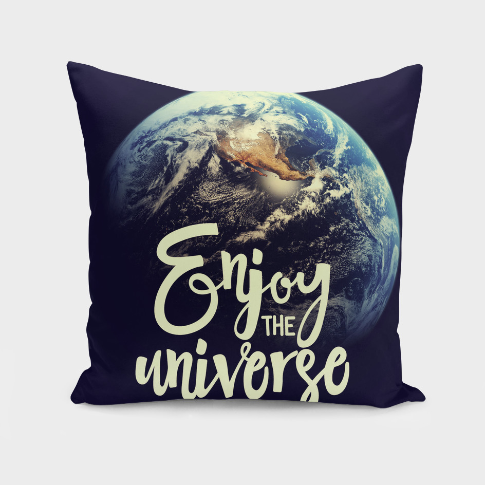 Enjoy the universe. letterring