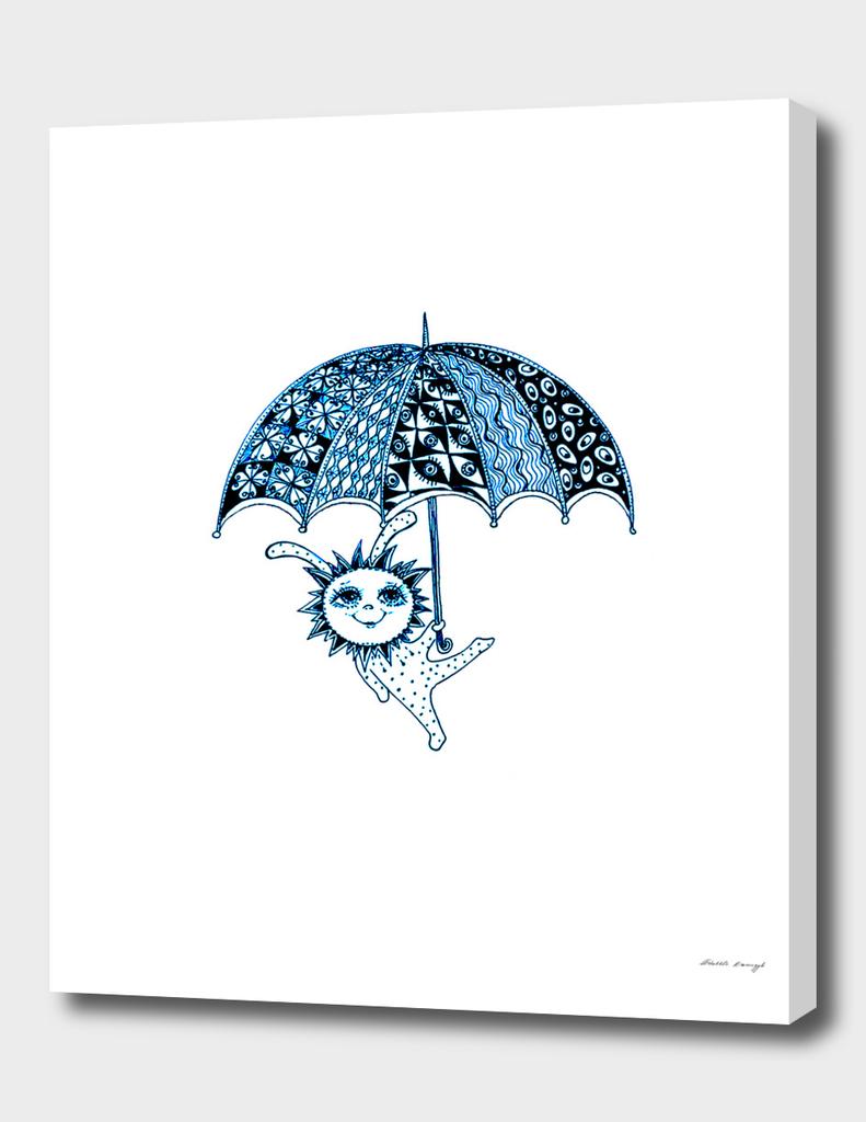 Baby Holding Umbrella a