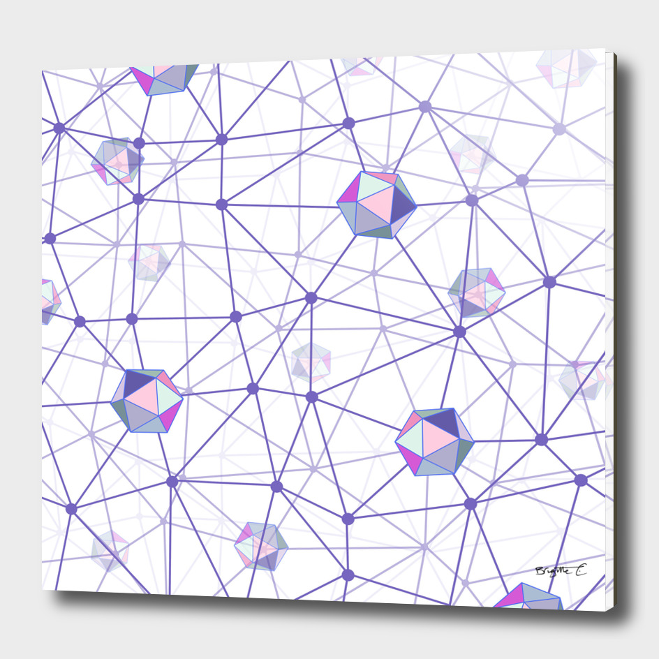 Pastel Geometric Shape Constellation Dream