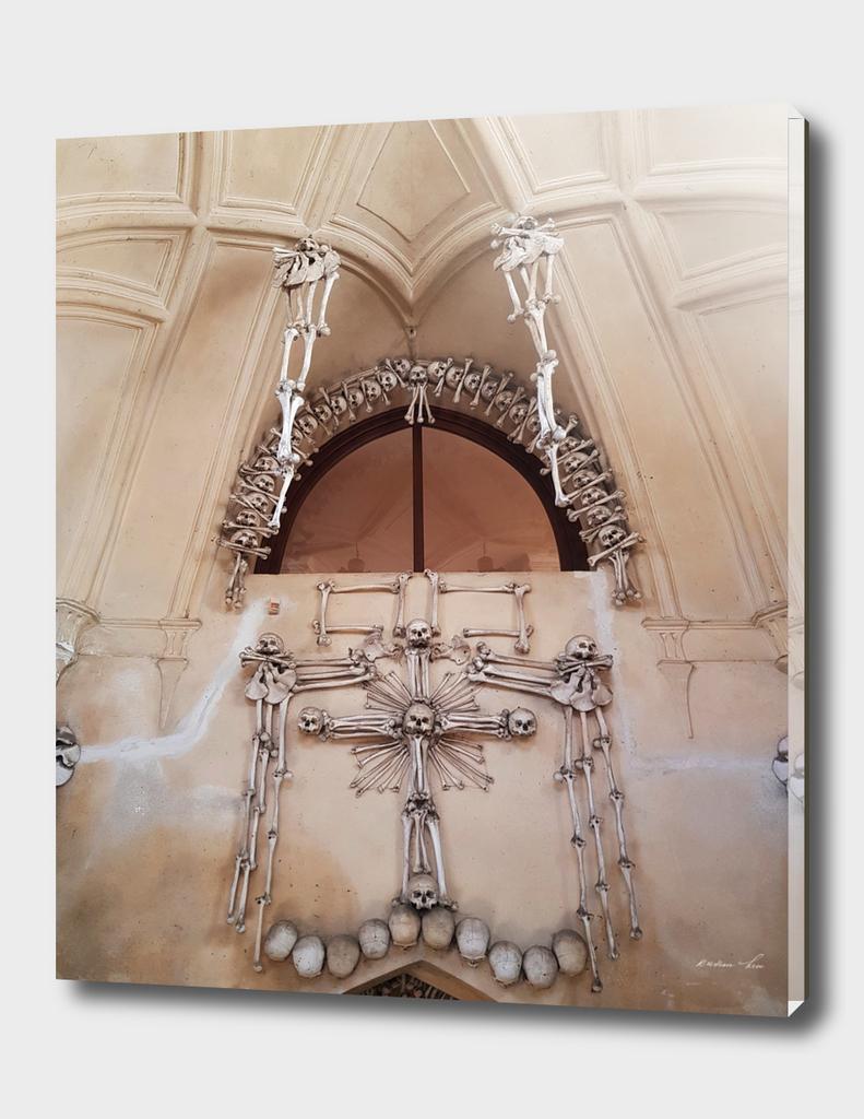 skull and bones wall art