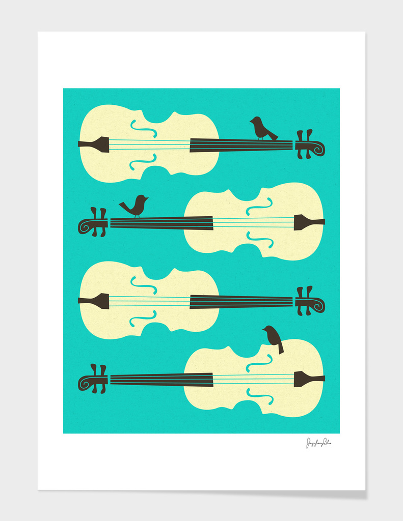 Birds on Cello Strings