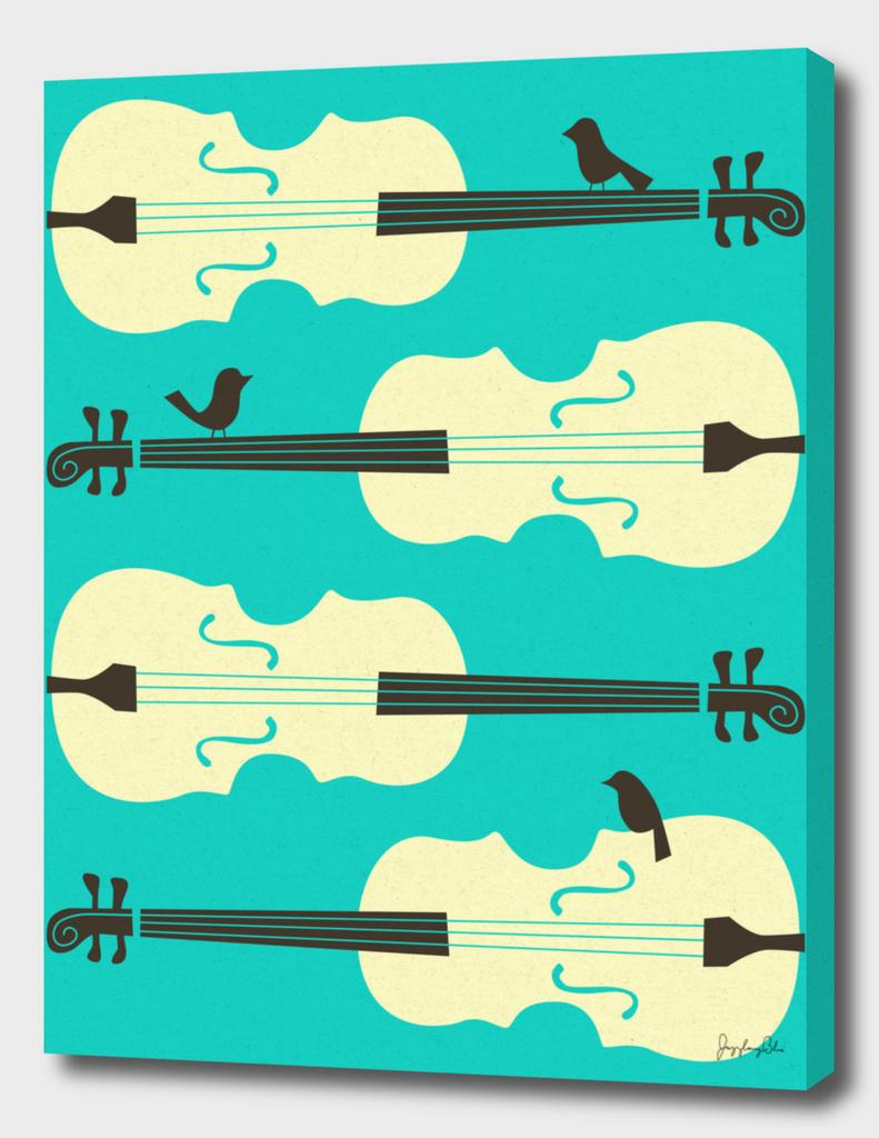 Birds on Cello Strings