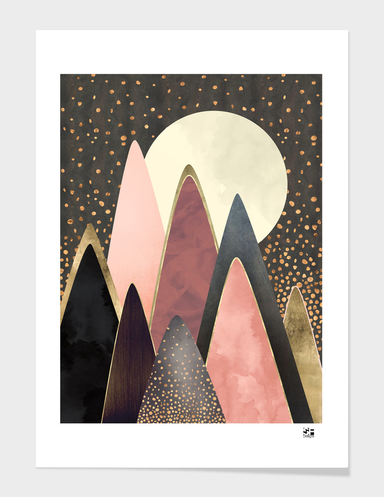 Pink and Gold Peaks