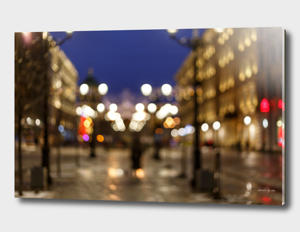 Abstract blur bokeh background of City