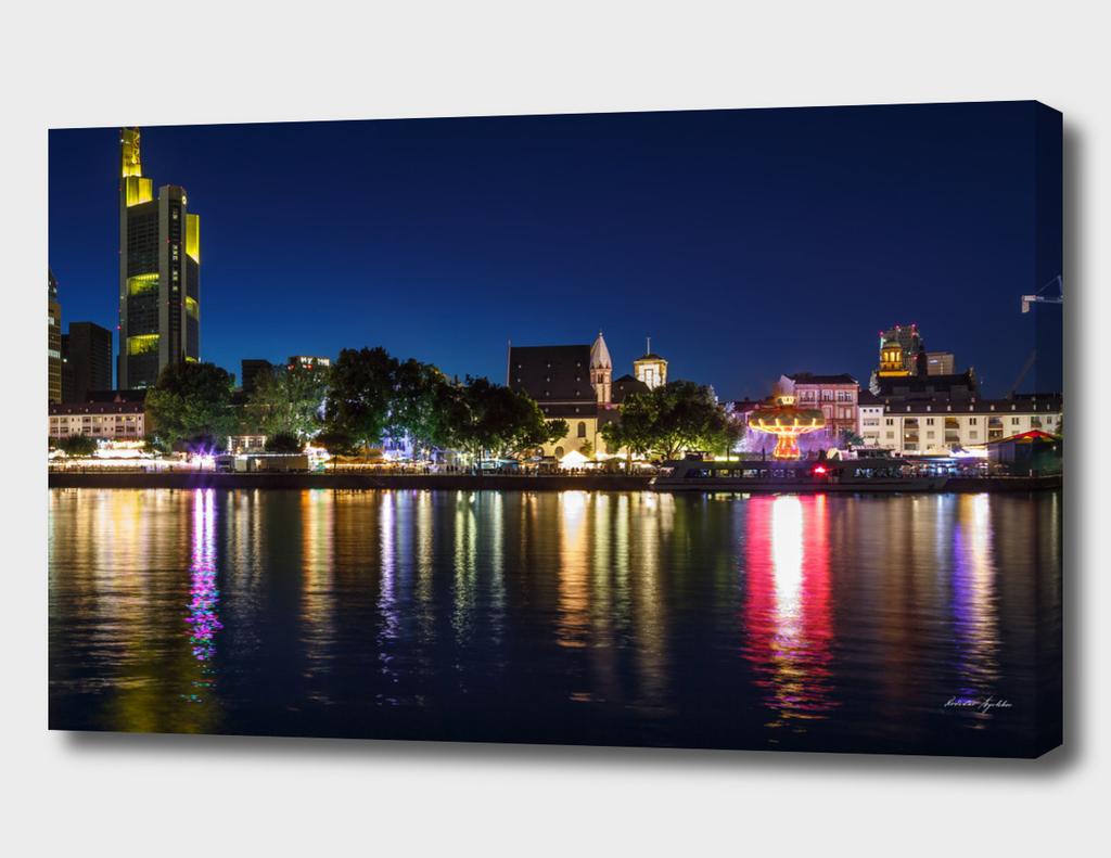 Frankfurt am Main - the business capital of Germany at night