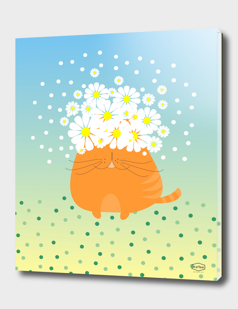 Cat&flowers