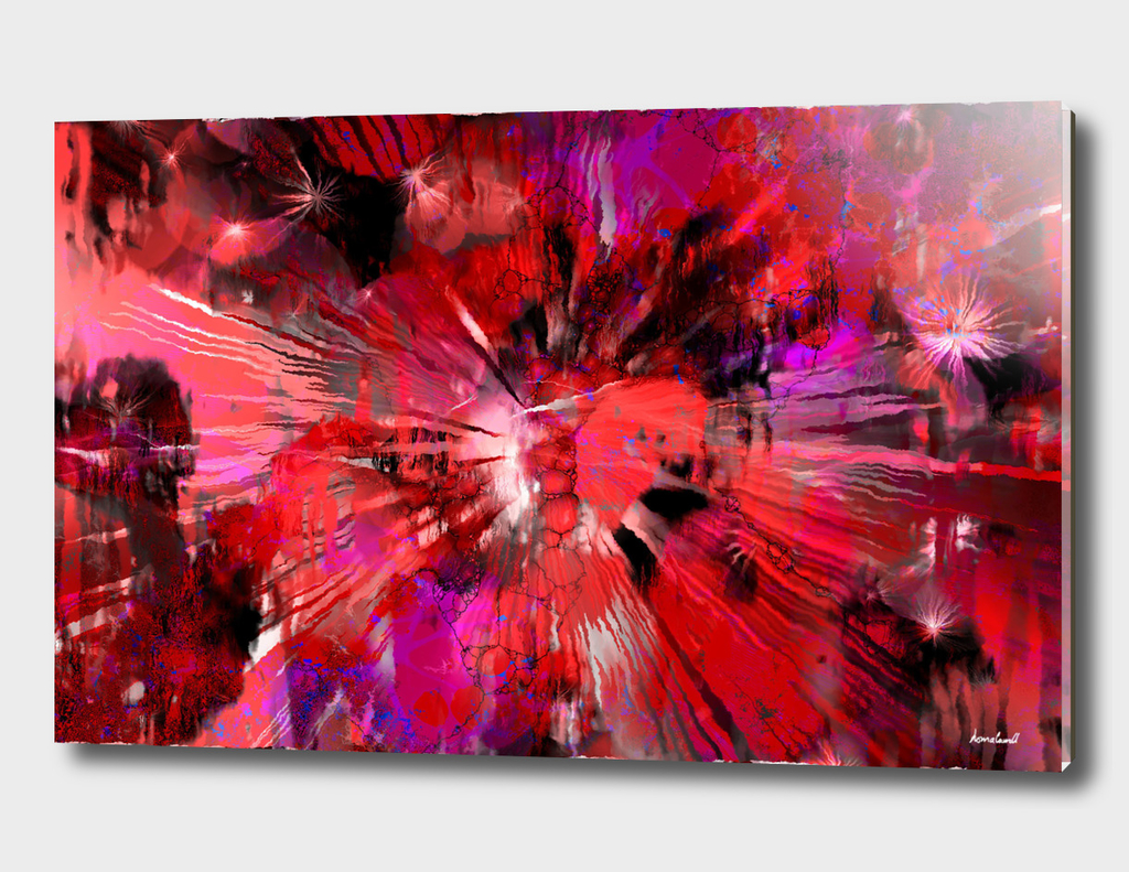 Volcanic Red Abstract