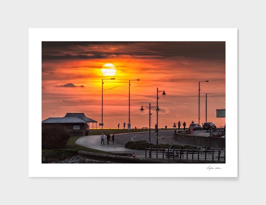 Sunset at Porthcawl