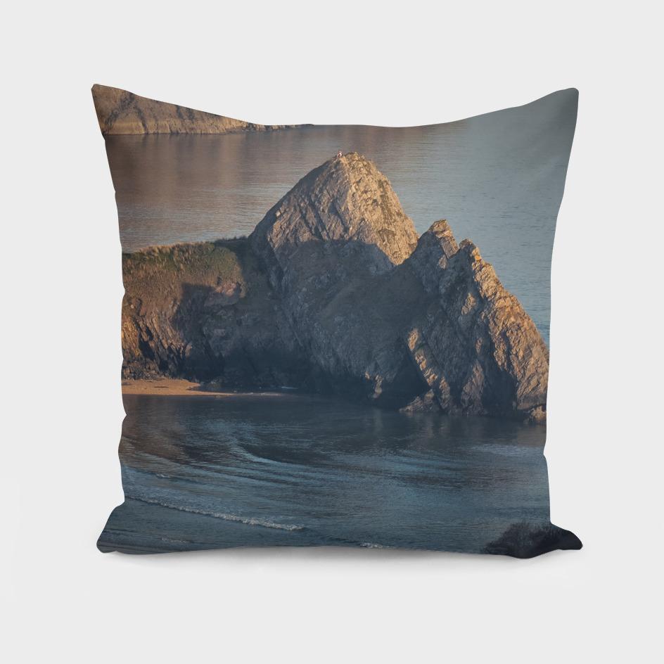 Evening at Three Cliffs Bay Gower