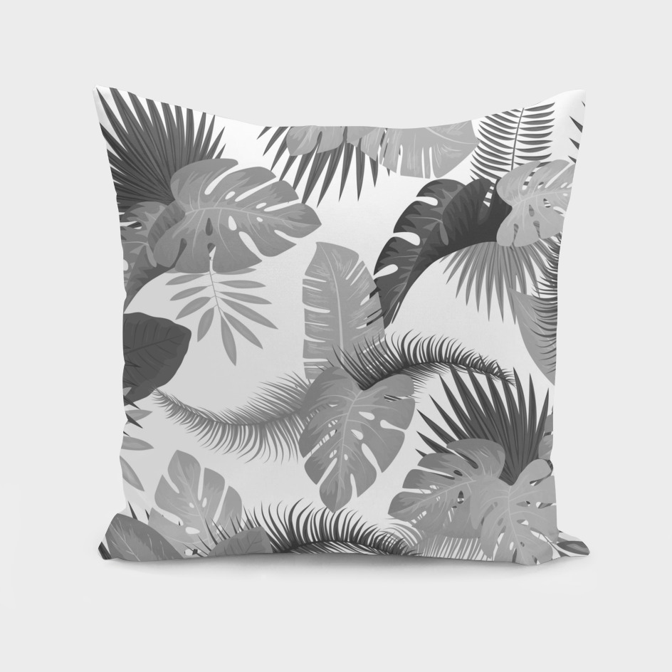 Tropical Leaves BW