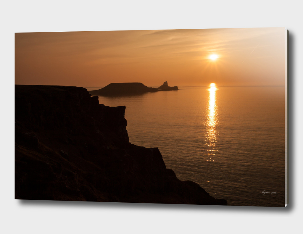 Worms Head sunset Gower